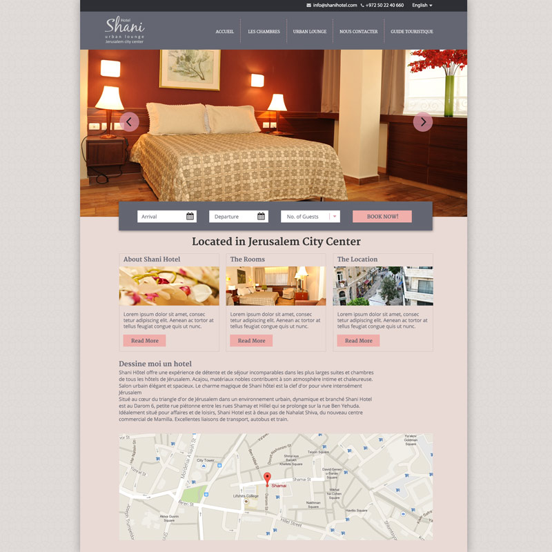 Hotel Shani - website