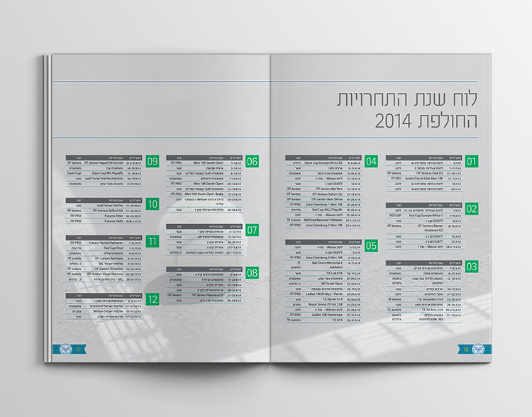 israeli tennis association - booklet 2015 inside4